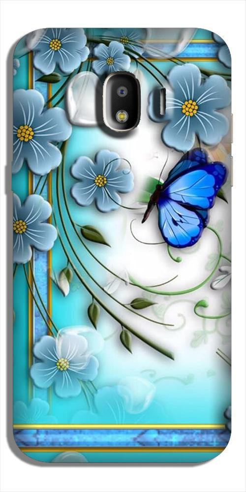 Blue Butterfly Case for Galaxy J2 Core