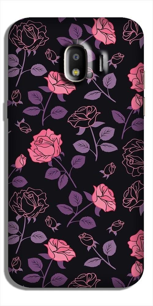Rose Black Background Case for Galaxy J2 Core