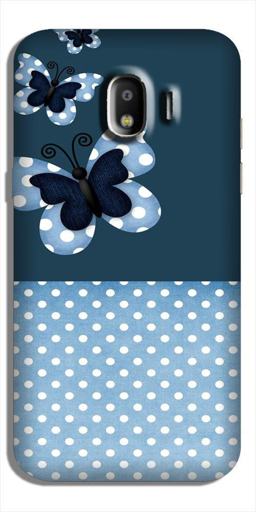 White dots Butterfly Case for Galaxy J4