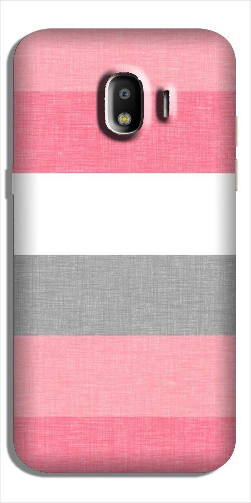 Pink white pattern Case for Galaxy J4