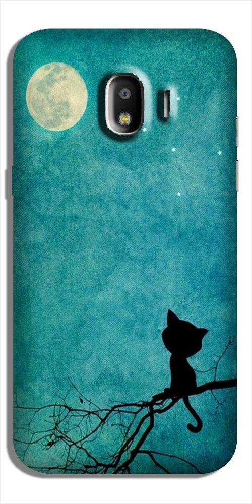 Moon cat Case for Galaxy J4