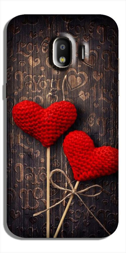 Red Hearts Case for Galaxy J4