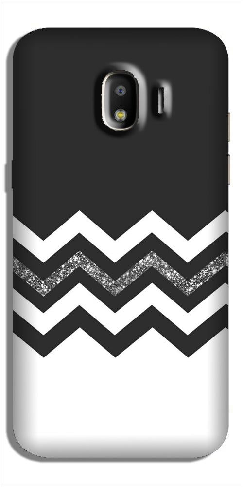Black white Pattern2Case for Galaxy J4