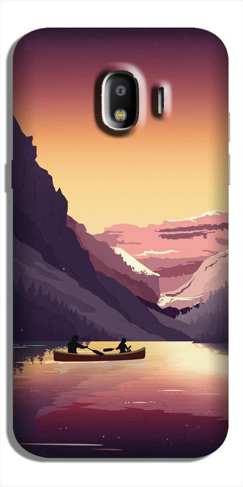 Mountains Boat Case for Galaxy J2 (2018) (Design - 181)