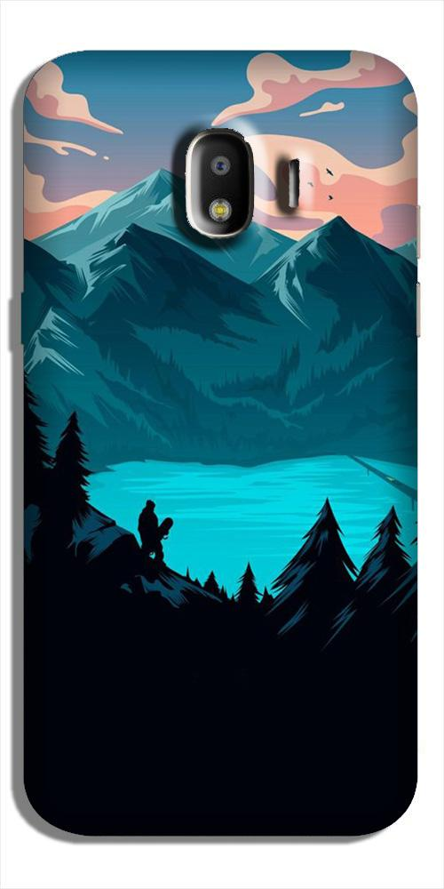 Mountains Case for Galaxy J2 (2018) (Design - 186)