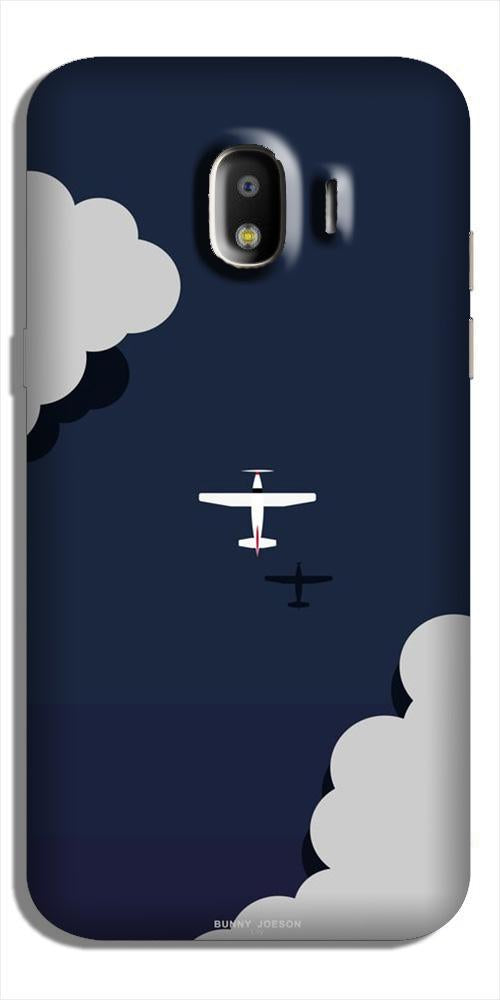 Clouds Plane Case for Galaxy J2 (2018) (Design - 196)