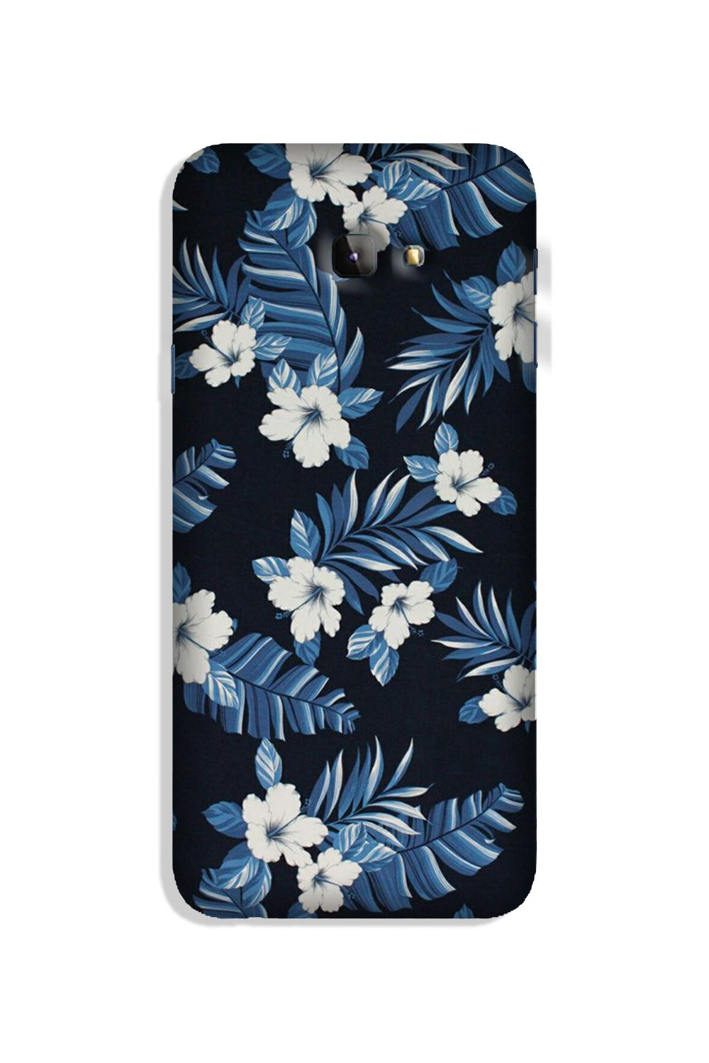 White flowers Blue Background2 Case for Galaxy J4 Plus
