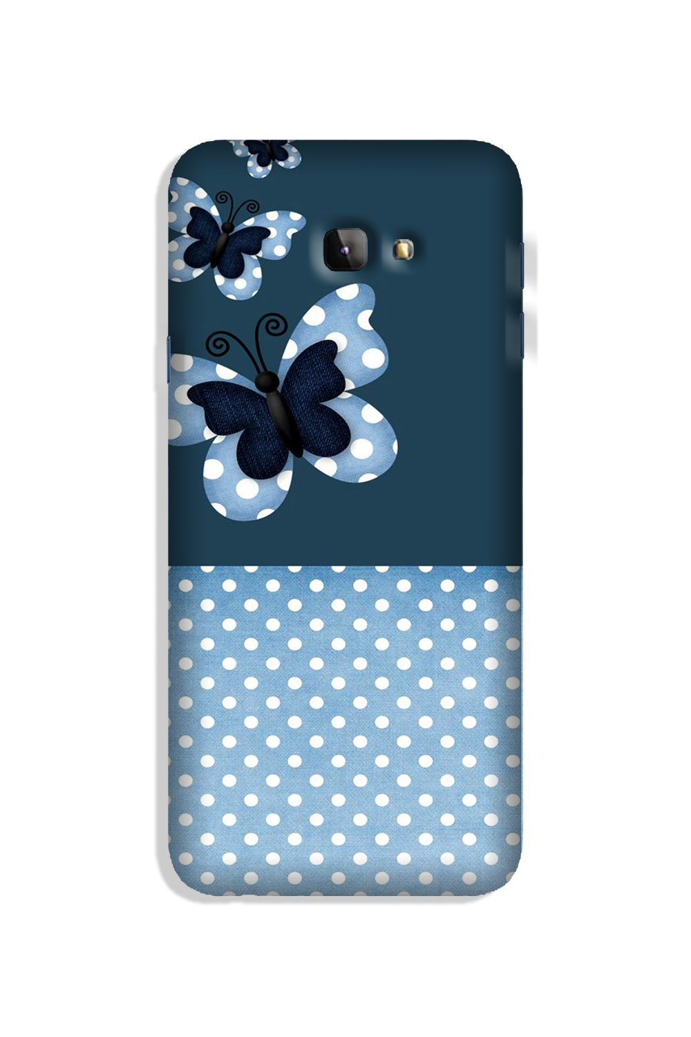 White dots Butterfly Case for Galaxy J4 Plus
