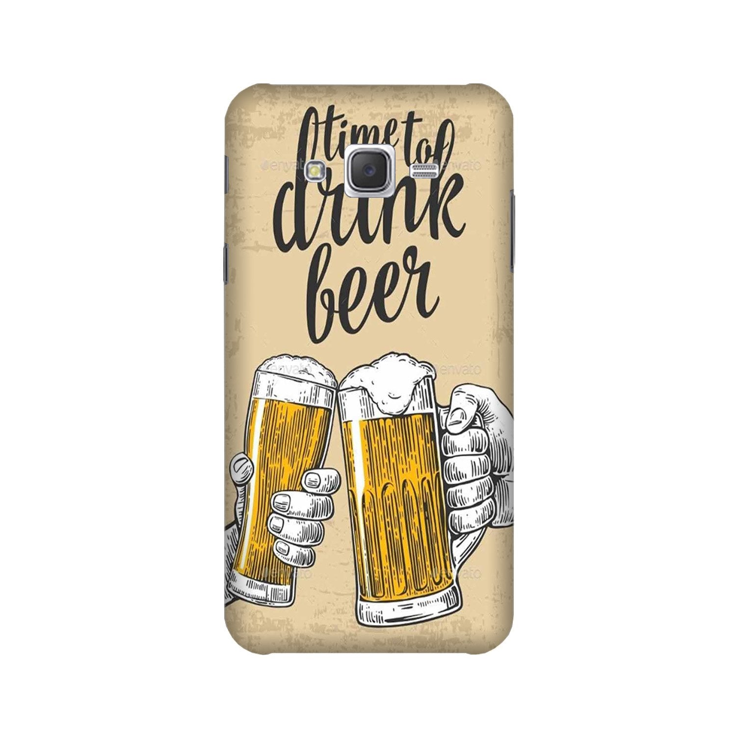 Drink Beer Mobile Back Case for Galaxy A3 (2015) (Design - 328)