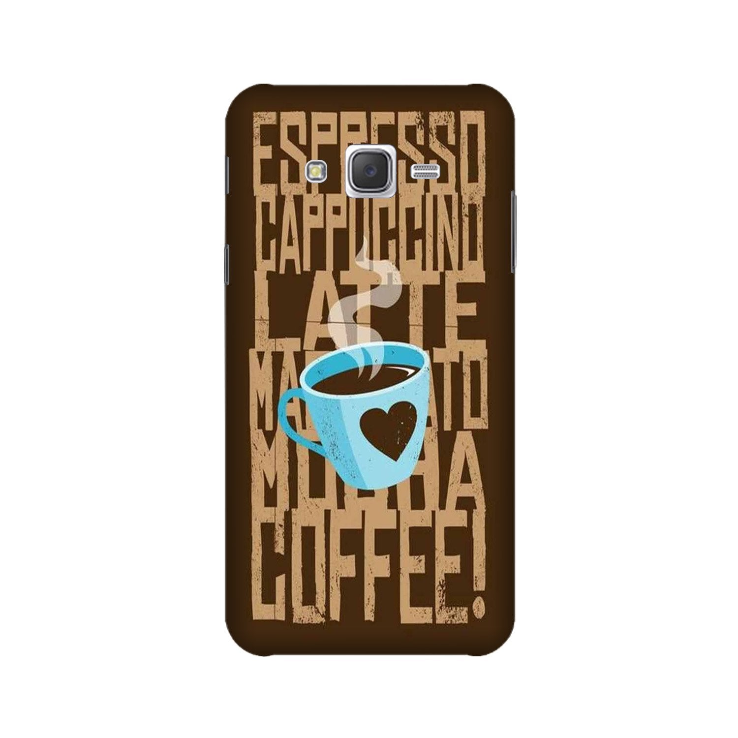 Love Coffee Mobile Back Case for Galaxy A3 (2015) (Design - 351)
