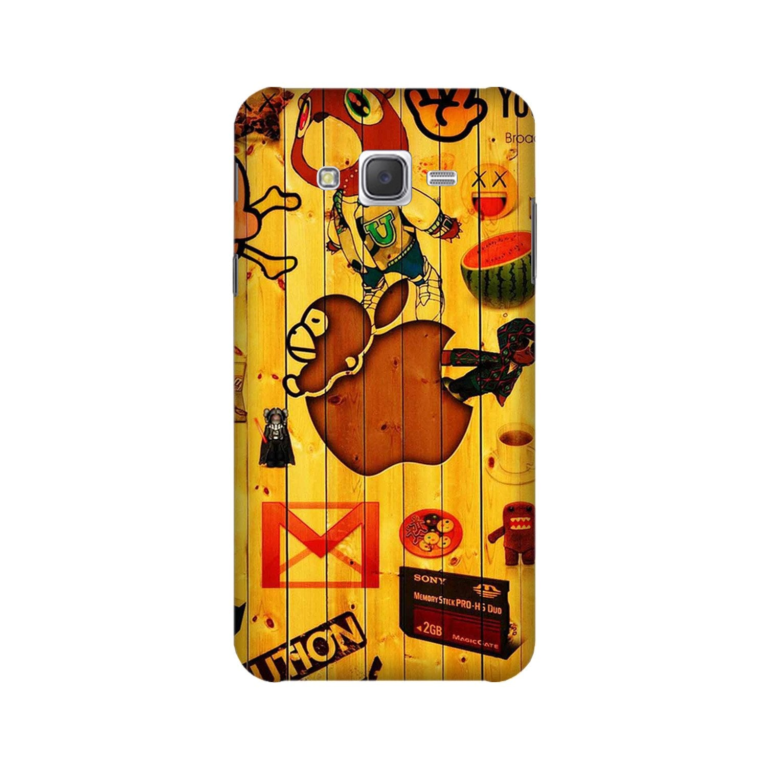 Wooden Texture Mobile Back Case for Galaxy A3 (2015) (Design - 367)