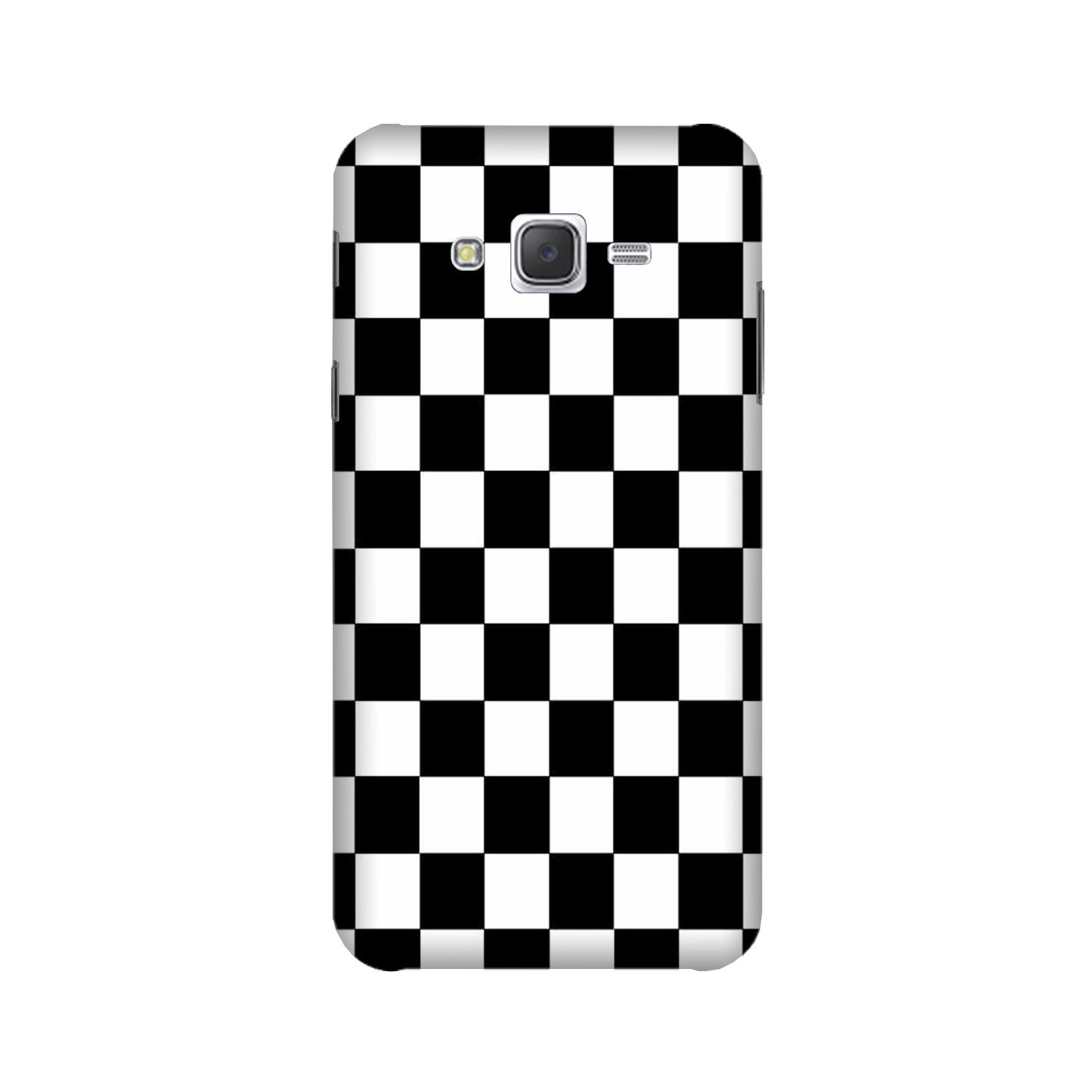 Black White Boxes Mobile Back Case for Galaxy A3 (2015) (Design - 372)