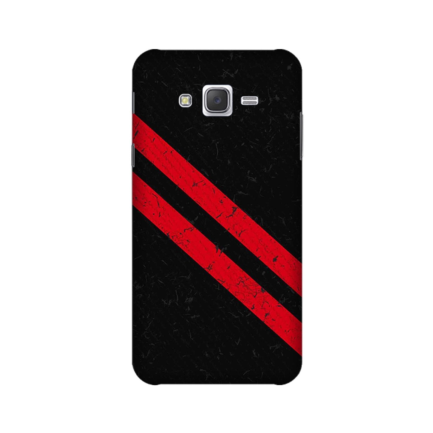 Black Red Pattern Mobile Back Case for Galaxy A3 (2015) (Design - 373)