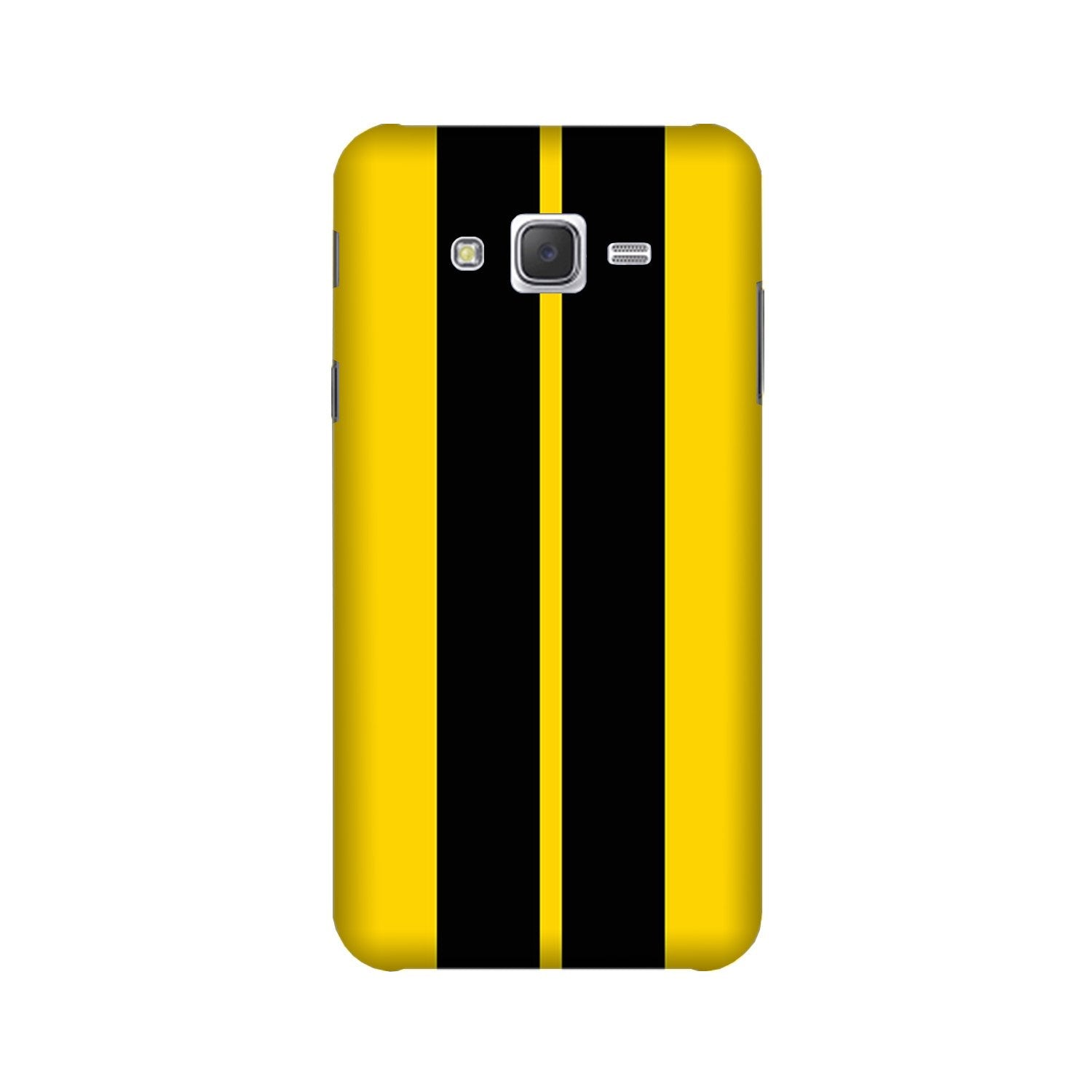 Black Yellow Pattern Mobile Back Case for Galaxy A3 (2015) (Design - 377)