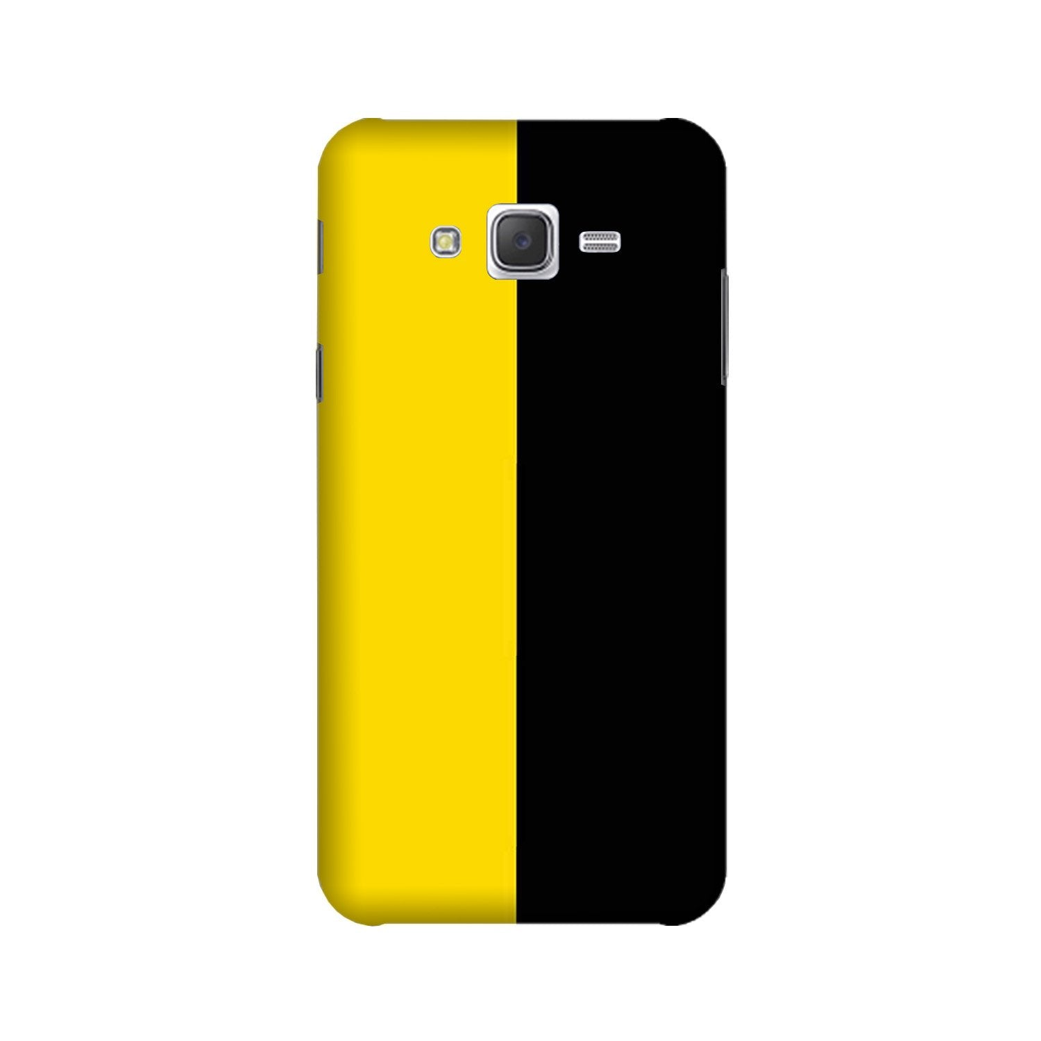 Black Yellow Pattern Mobile Back Case for Galaxy A3 (2015) (Design - 397)