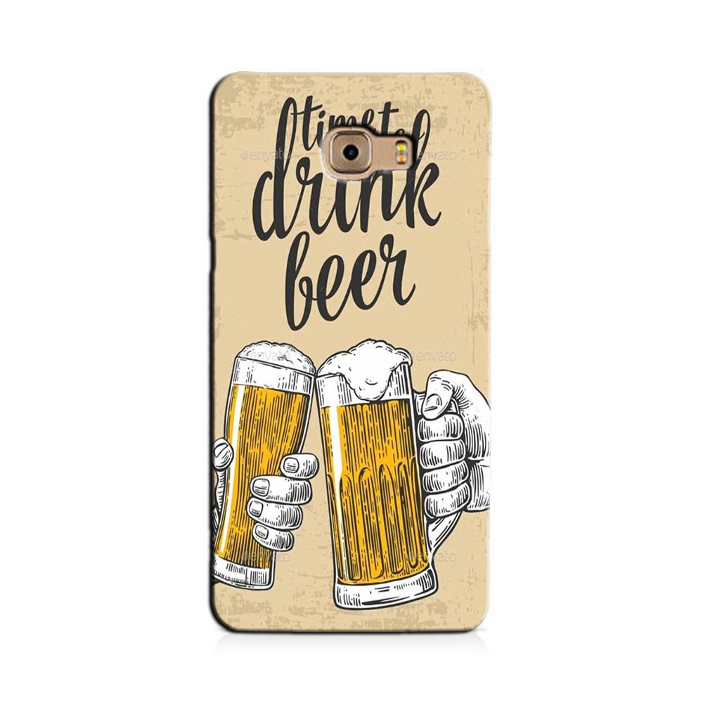 Drink Beer Mobile Back Case for Galaxy J7 Prime   (Design - 328)