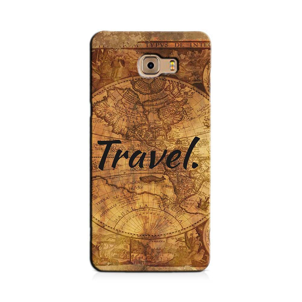 Travel Mobile Back Case for Galaxy J7 Prime   (Design - 375)