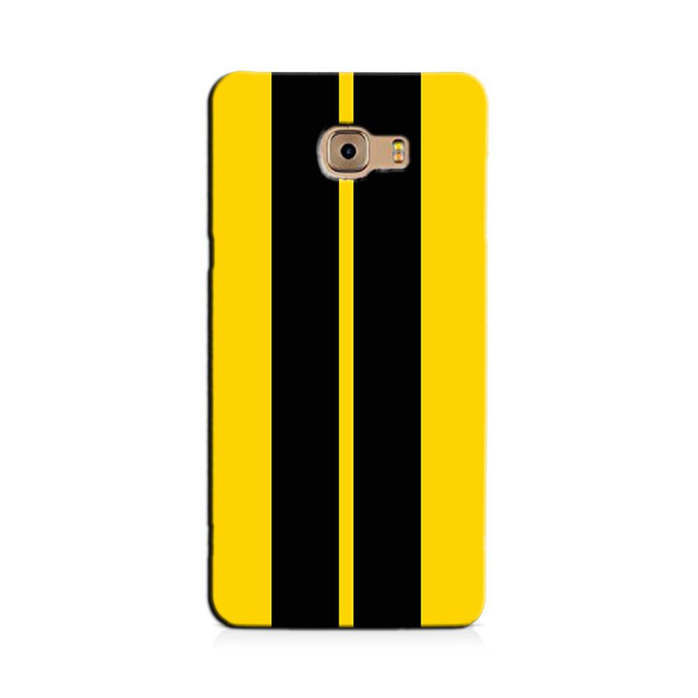 Black Yellow Pattern Mobile Back Case for Galaxy J7 Prime   (Design - 377)