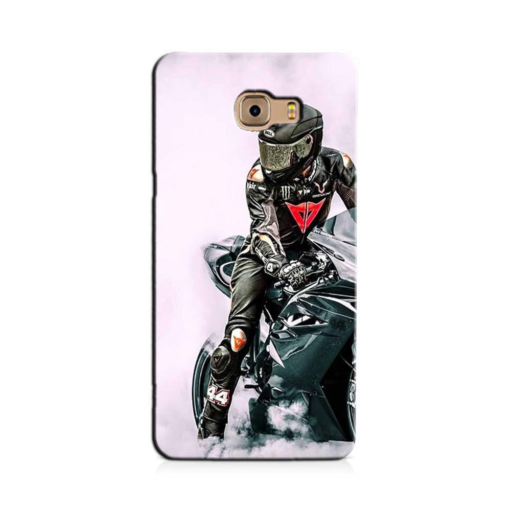 Biker Mobile Back Case for Galaxy J7 Prime   (Design - 383)