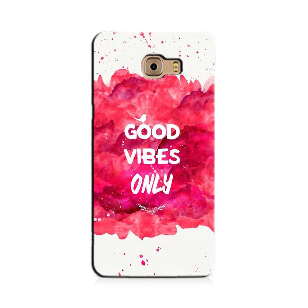 Good Vibes Only Mobile Back Case for Galaxy J7 Prime   (Design - 393)
