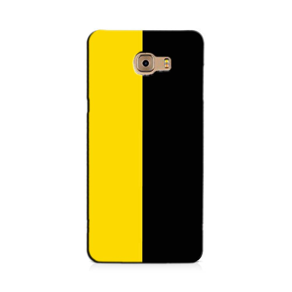 Black Yellow Pattern Mobile Back Case for Galaxy J7 Prime   (Design - 397)