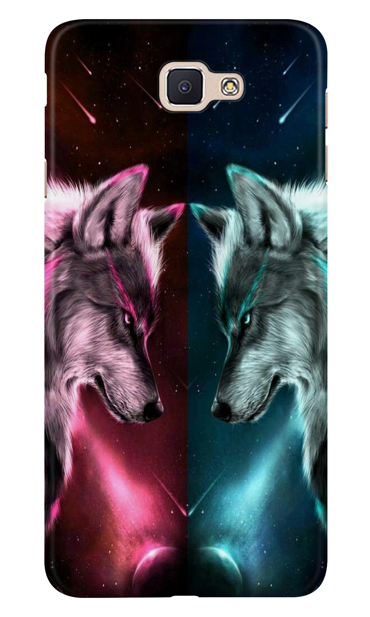 Wolf fight Case for Samsung Galaxy J7 Prime (Design No. 221)