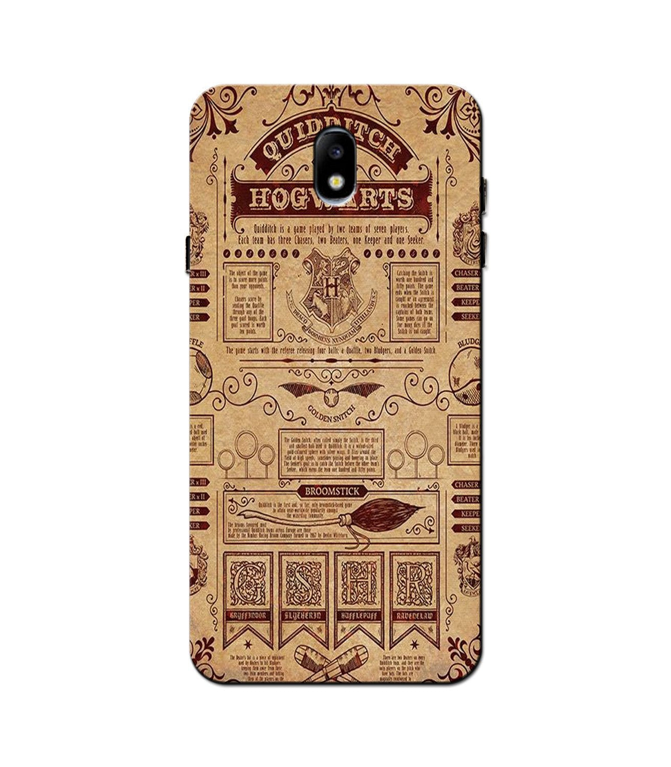 Hogwarts Mobile Back Case for Galaxy J5 Pro  (Design - 304)