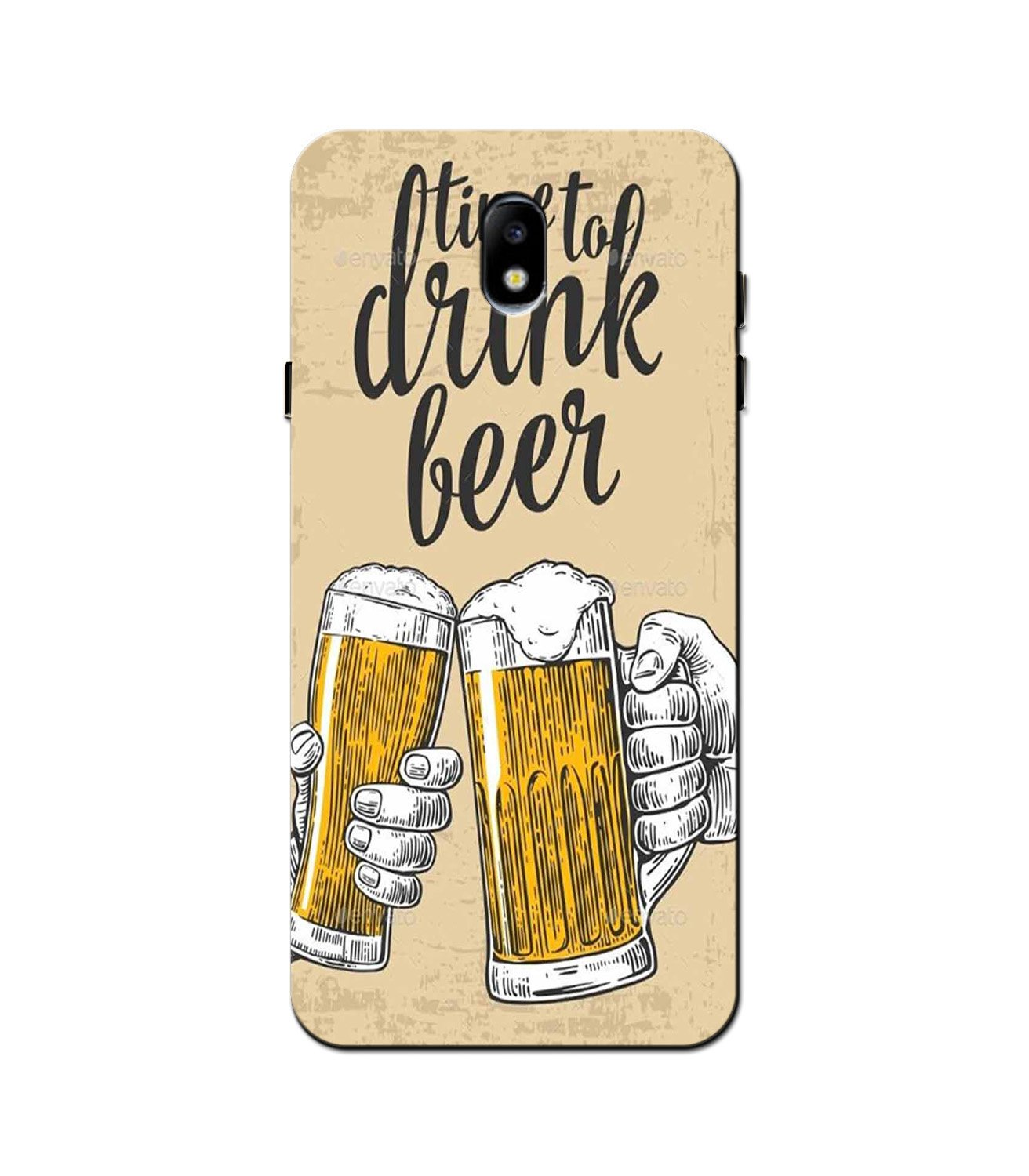 Drink Beer Mobile Back Case for Galaxy J5 Pro  (Design - 328)