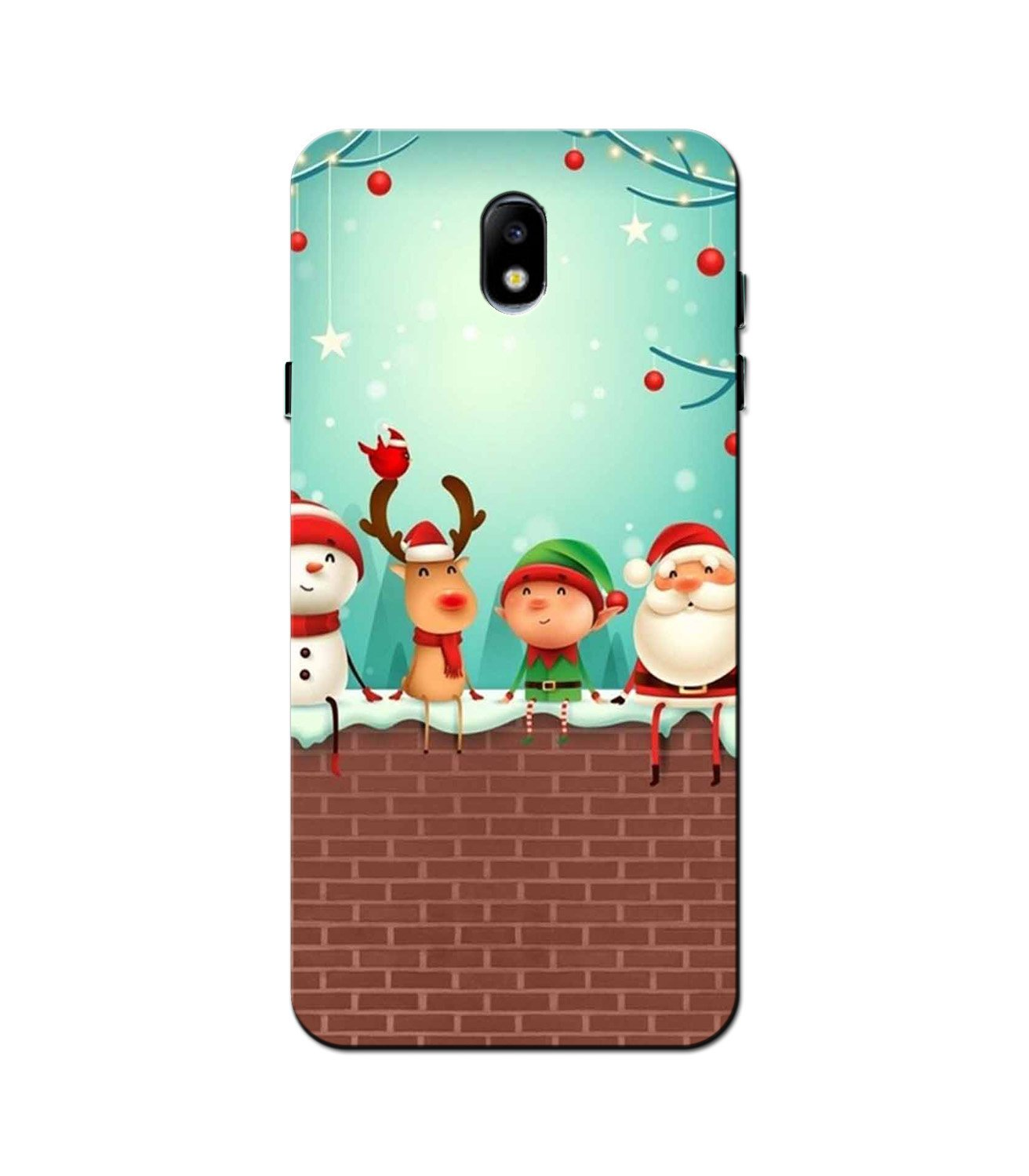 Santa Claus Mobile Back Case for Galaxy J5 Pro  (Design - 334)