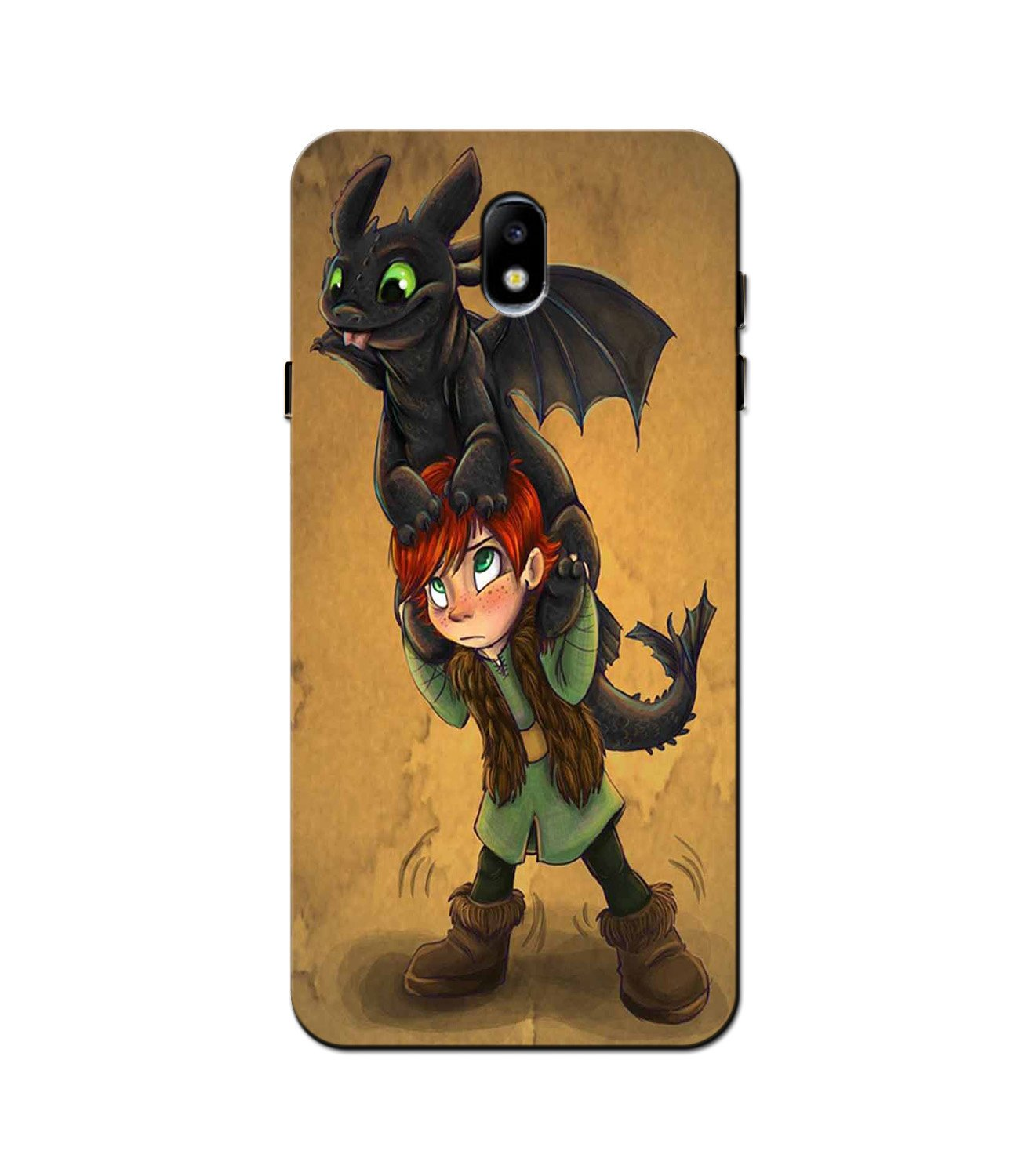 Dragon Mobile Back Case for Galaxy J3 Pro  (Design - 336)