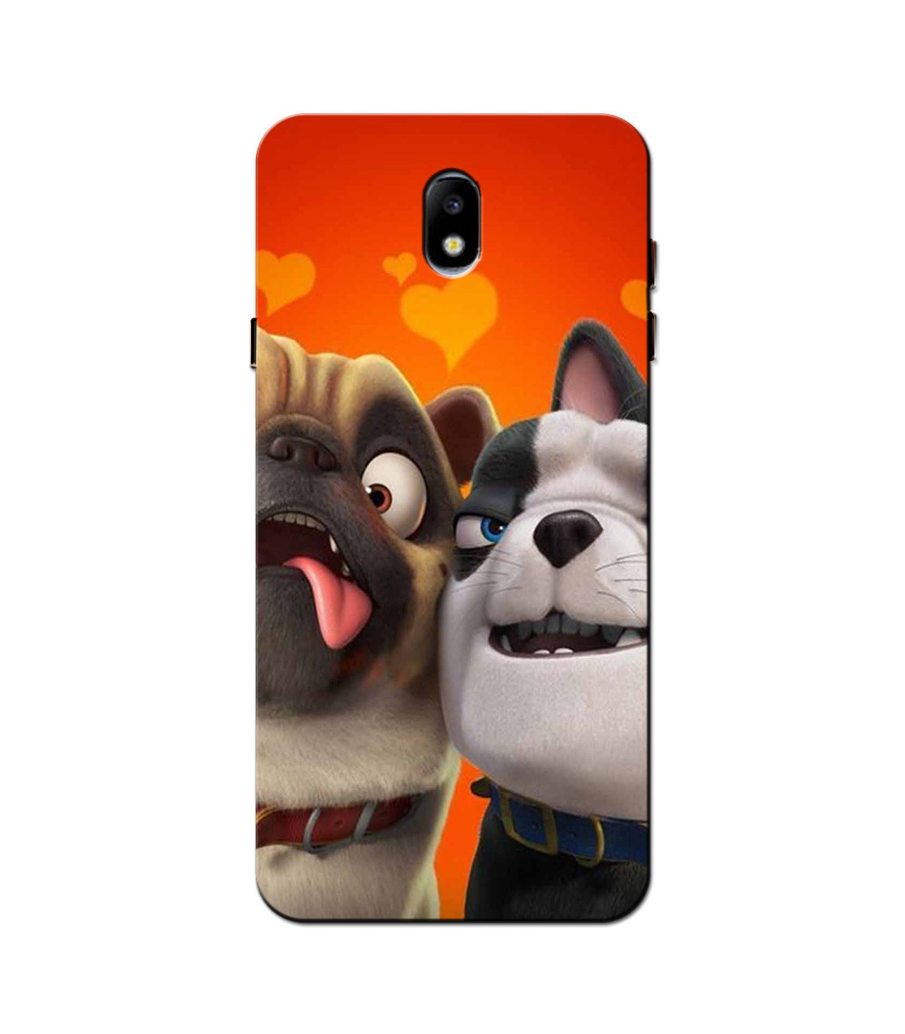 Dog Puppy Mobile Back Case for Galaxy J3 Pro  (Design - 350)