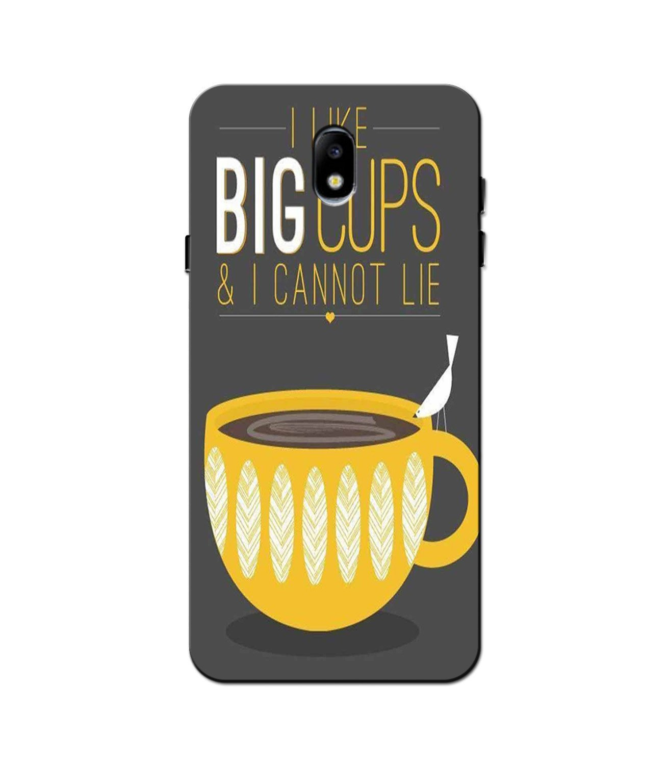 Big Cups Coffee Mobile Back Case for Galaxy J3 Pro  (Design - 352)