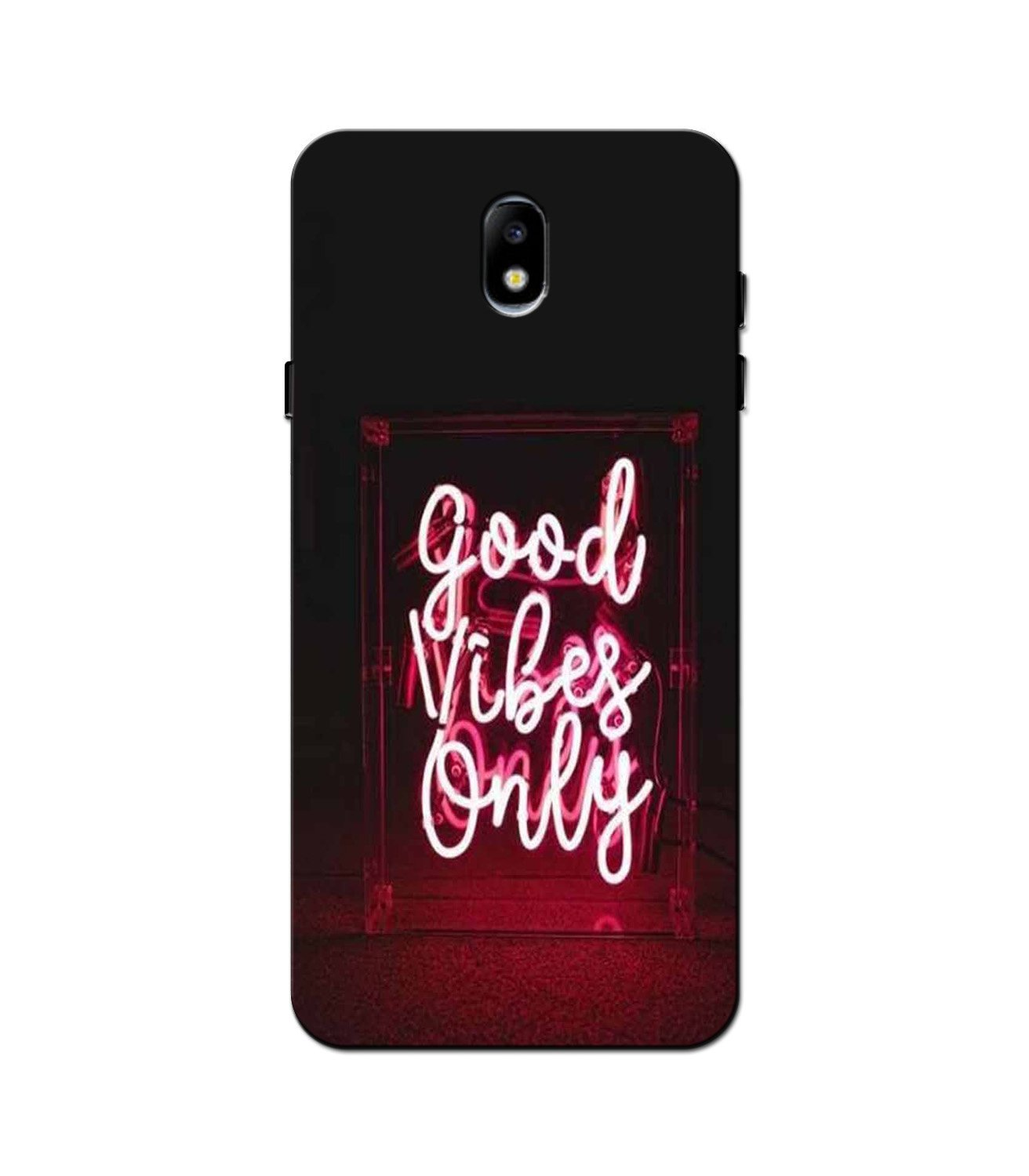 Good Vibes Only Mobile Back Case for Galaxy J3 Pro  (Design - 354)