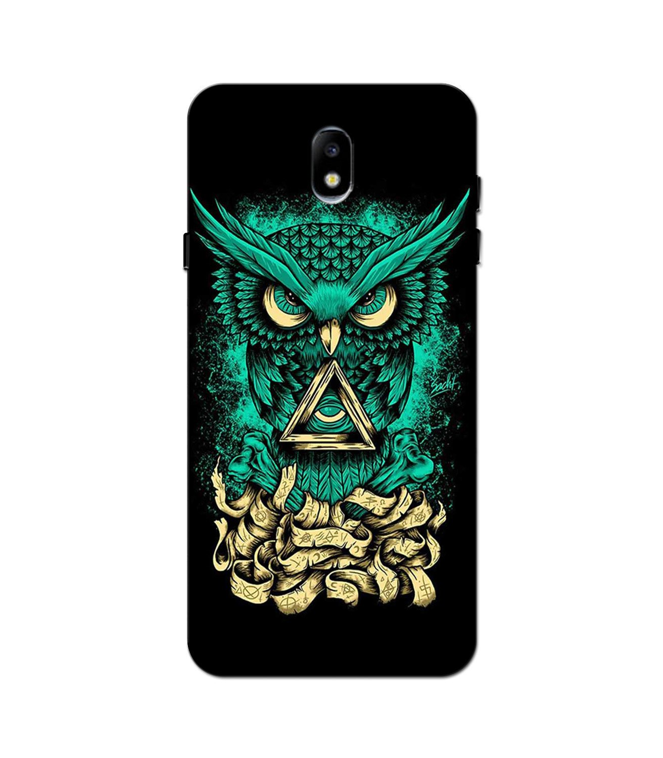 Owl Mobile Back Case for Galaxy J5 Pro  (Design - 358)