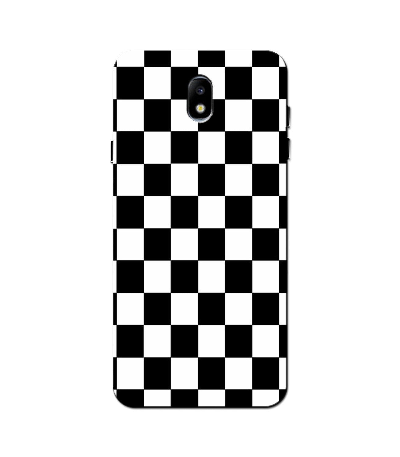 Black White Boxes Mobile Back Case for Galaxy J3 Pro  (Design - 372)