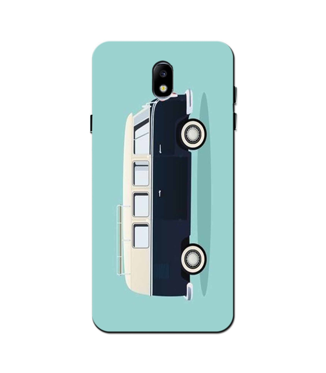 Travel Bus Mobile Back Case for Galaxy J3 Pro  (Design - 379)