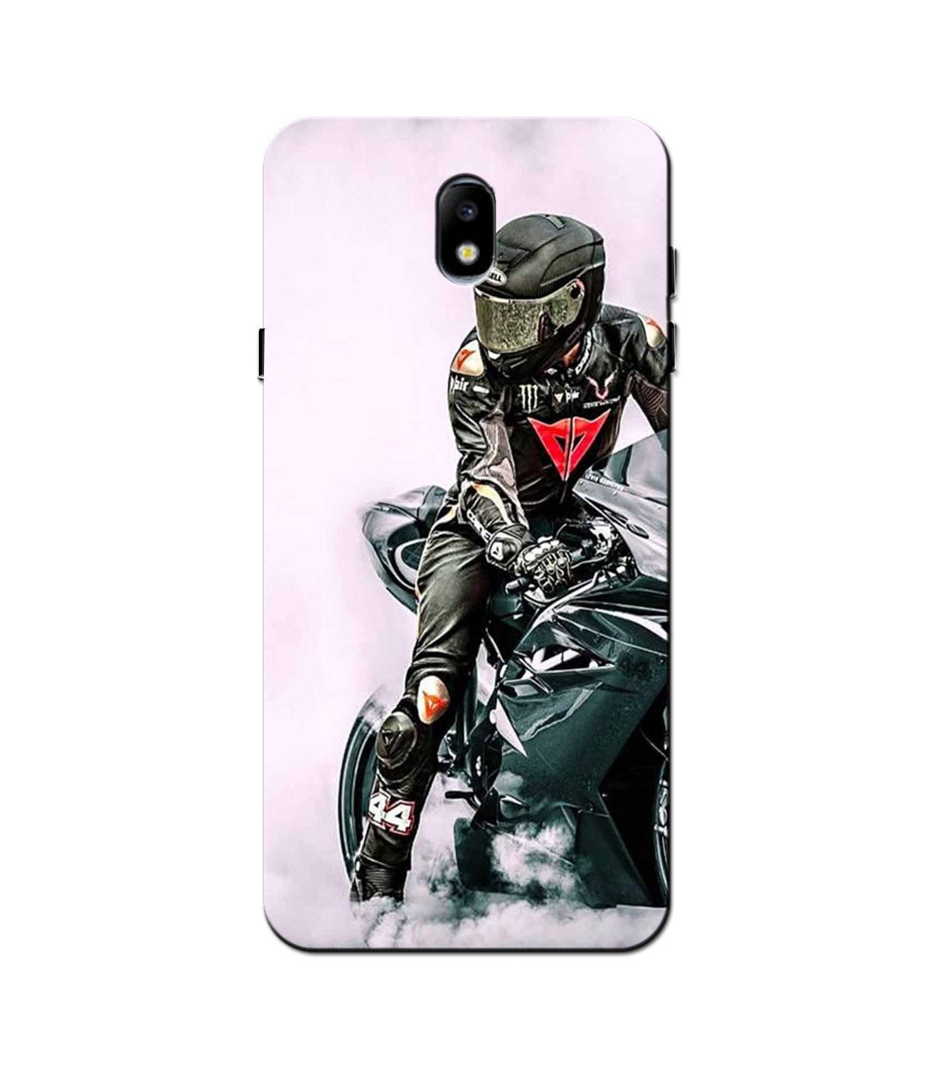 Biker Mobile Back Case for Galaxy J5 Pro  (Design - 383)