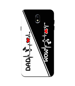 Love Mom Dad Mobile Back Case for Galaxy J3 Pro  (Design - 385)