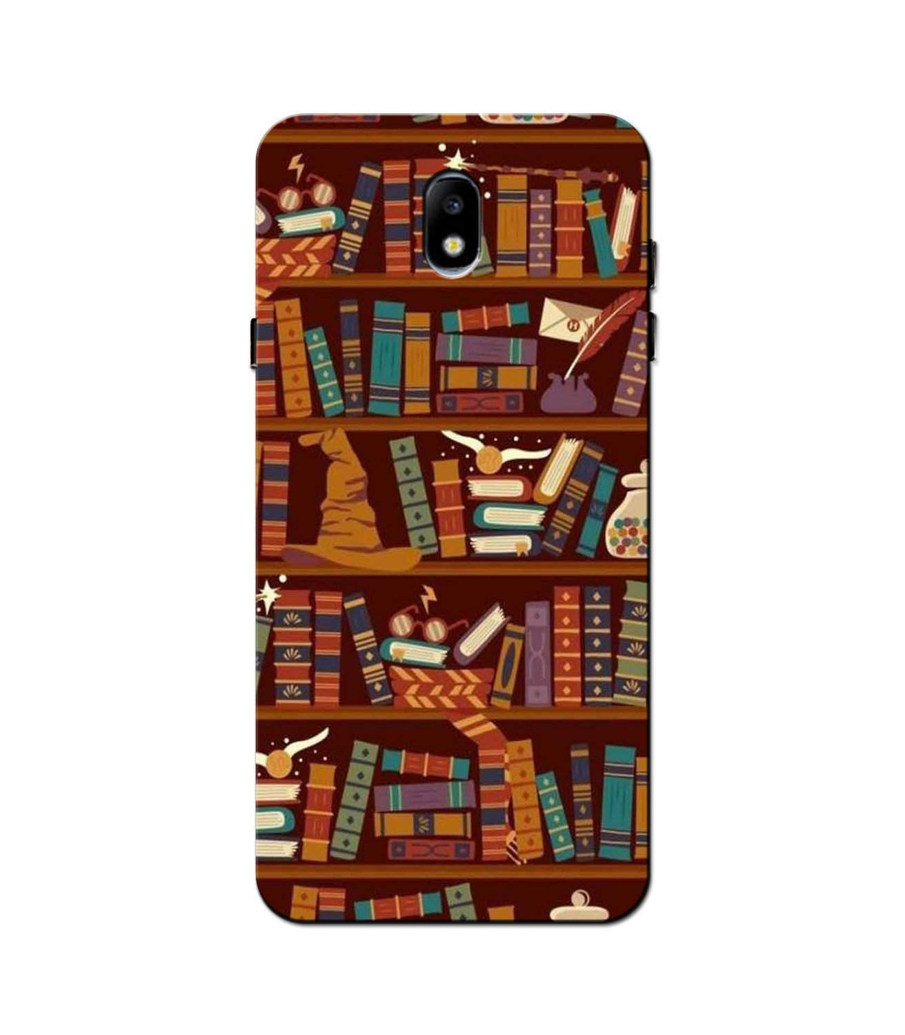 Book Shelf Mobile Back Case for Galaxy J5 Pro  (Design - 390)