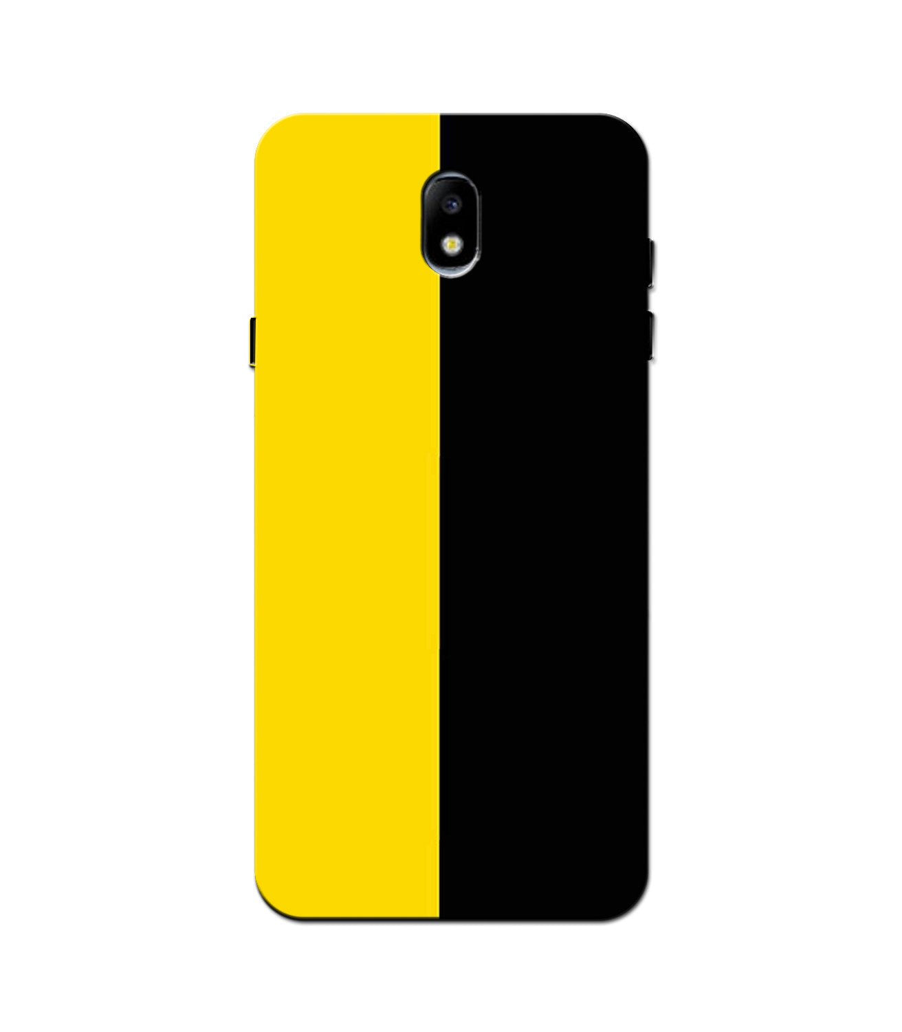 Black Yellow Pattern Mobile Back Case for Galaxy J5 Pro  (Design - 397)