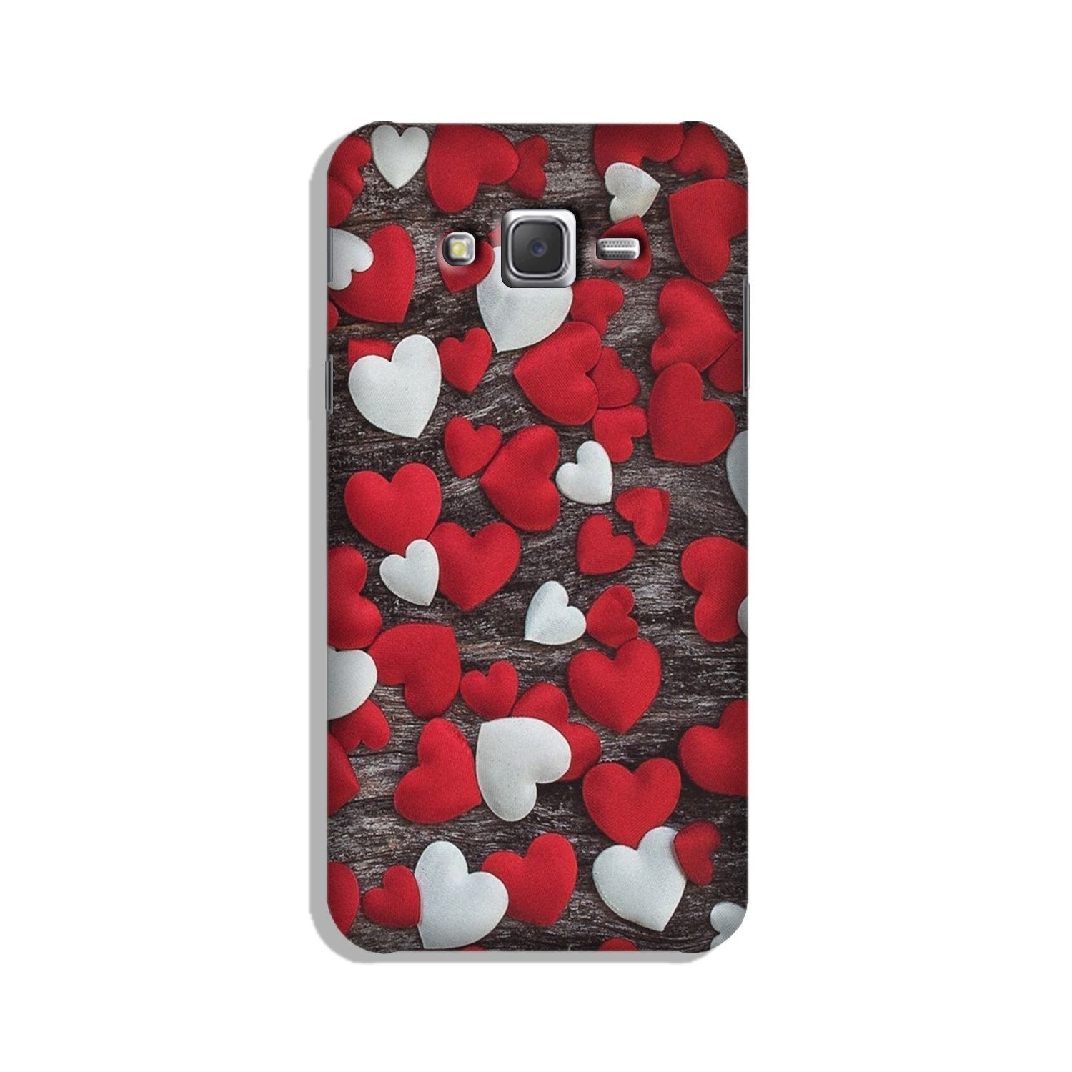 Red White Hearts Case for Galaxy On7/ On7 Pro  (Design - 105)