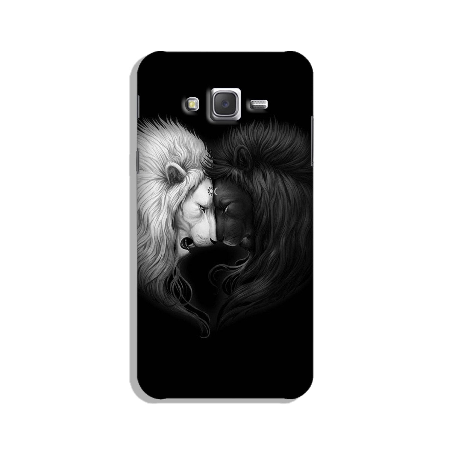 Dark White Lion Case for Galaxy On7/ On7 Pro  (Design - 140)