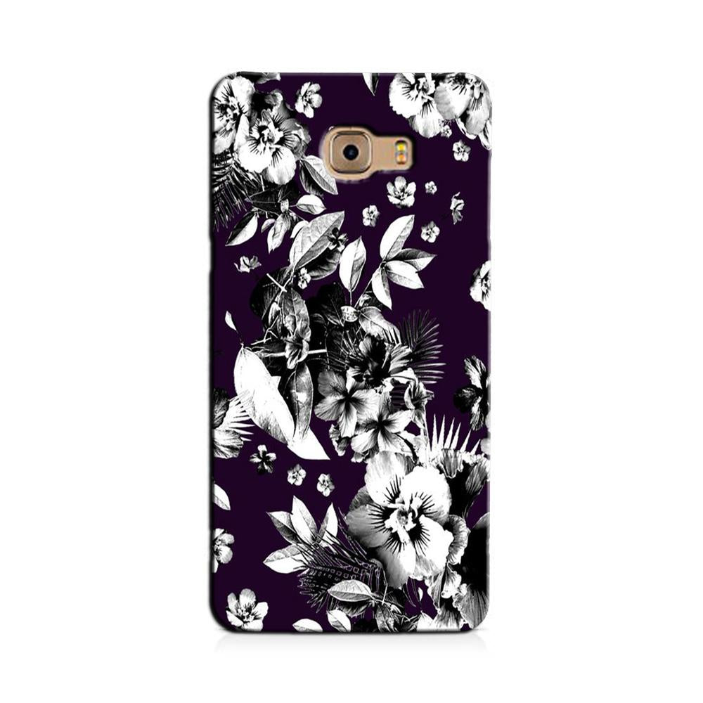 white flowers Case for Galaxy J7 Prime