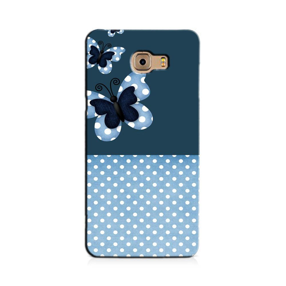 White dots Butterfly Case for Galaxy J7 Prime