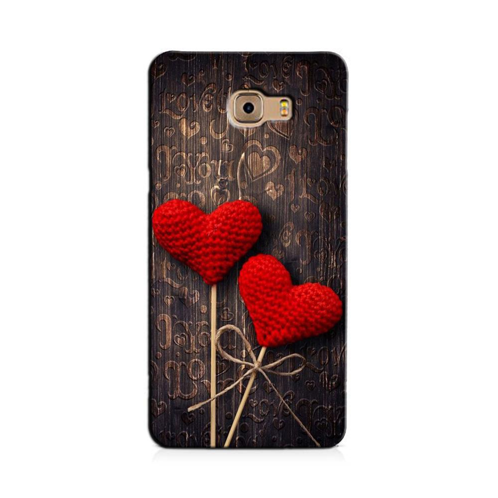 Red Hearts Case for Galaxy C7/ C7 Pro