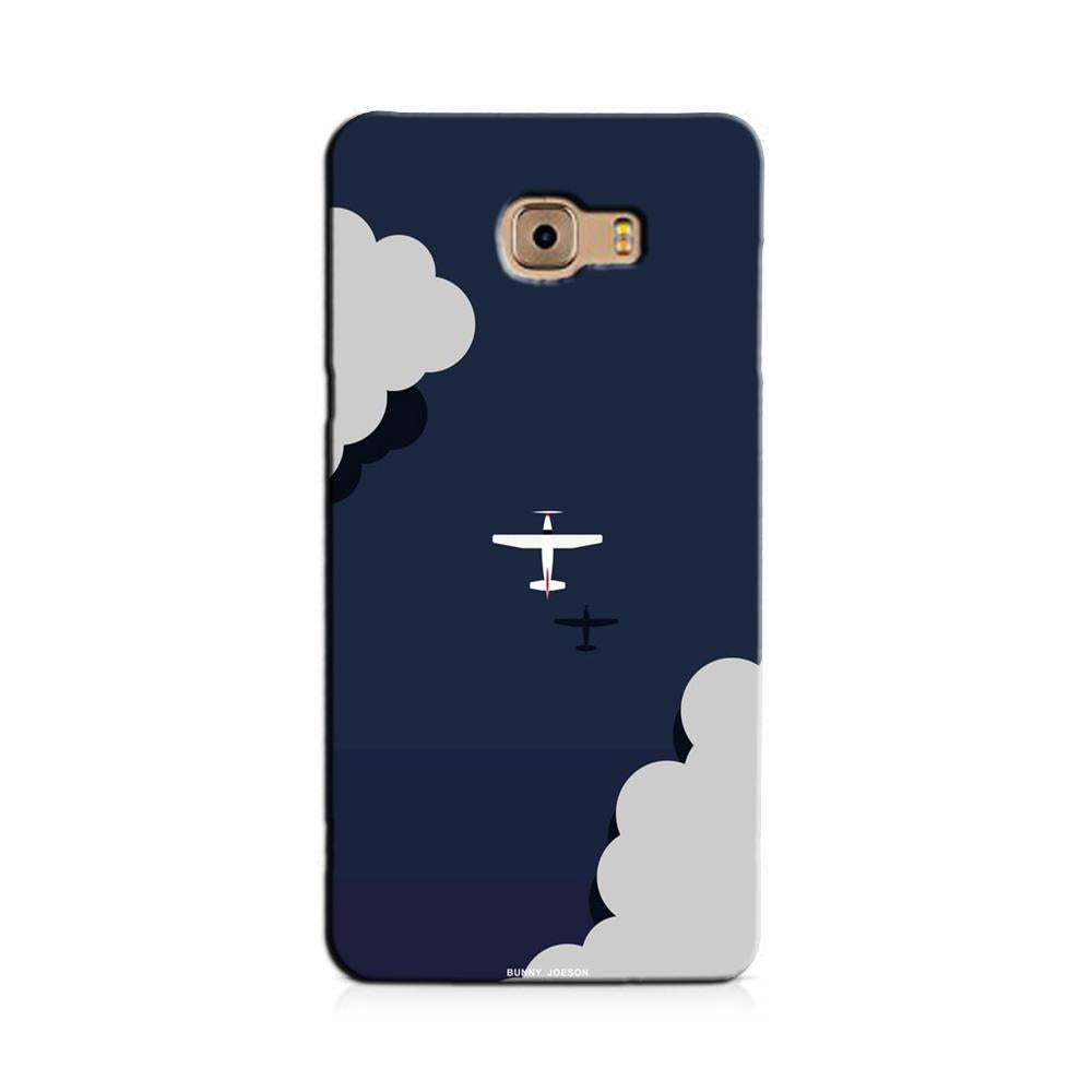 Clouds Plane Case for Galaxy J7 Prime (Design - 196)