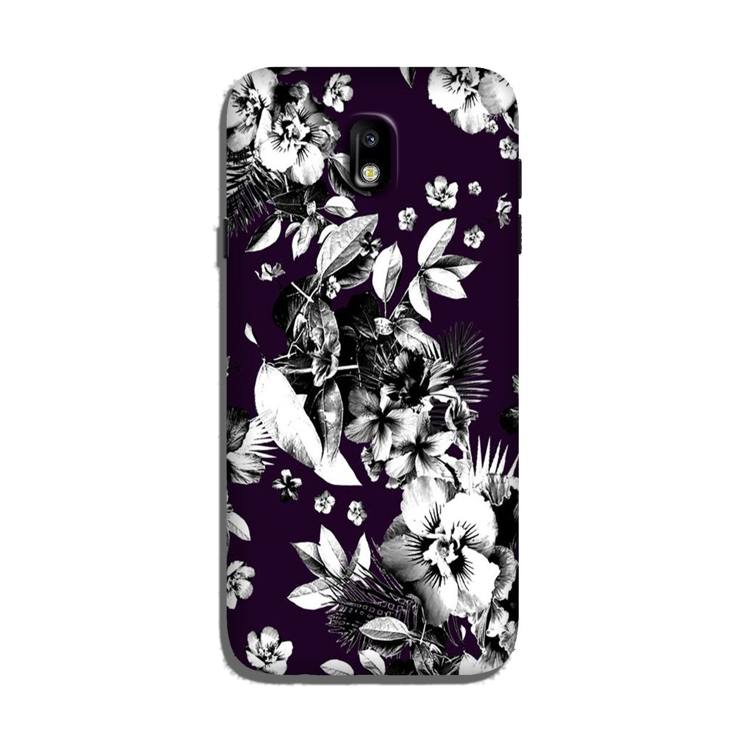 white flowers Case for Galaxy J5 Pro