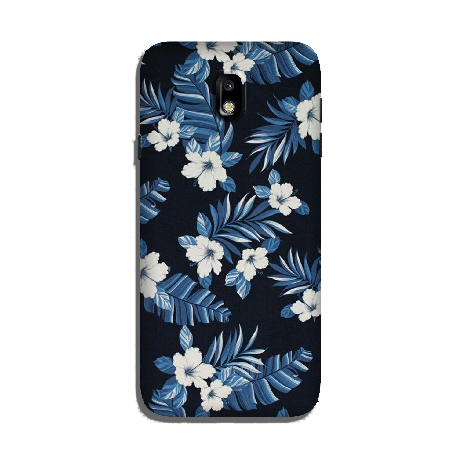 White flowers Blue Background2 Case for Galaxy J3 Pro
