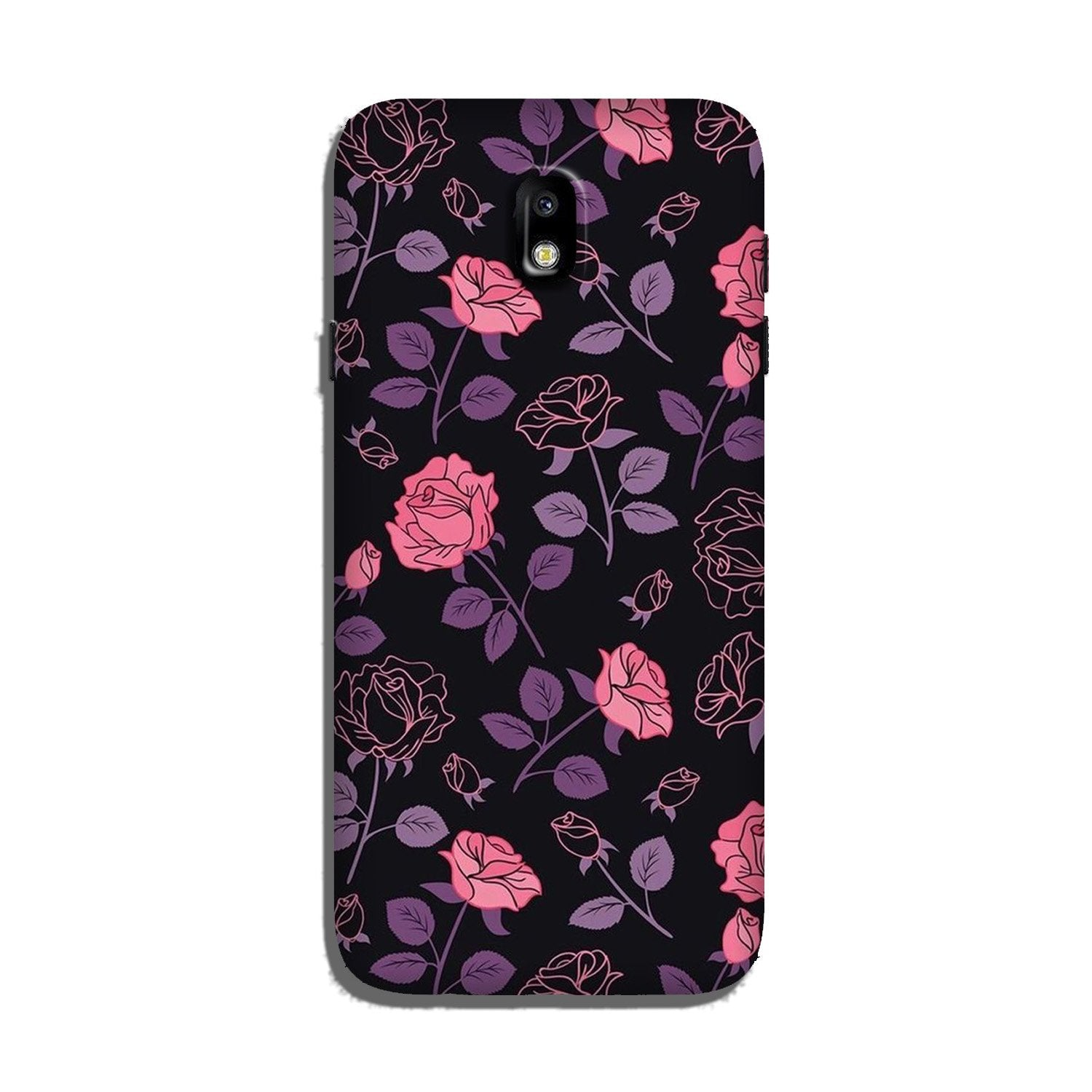 Rose Black Background Case for Galaxy J3 Pro