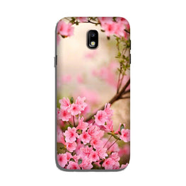 Pink flowers Case for Galaxy J7 Pro